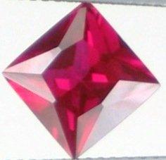 8mm (~2.91ct) Princess Cut Sri Lanka Ruby