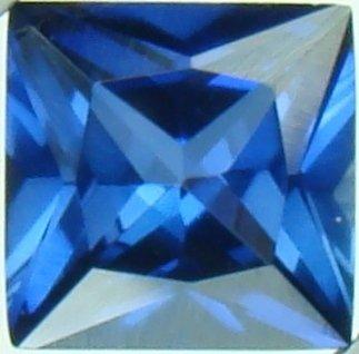 8mm (~2.8ct) Princess Cut Thailand Sapphire