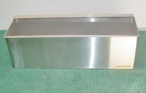 "SAN JAMAR CONDIMENT 18"" STAINLESS STEEL BAR TRAY"
