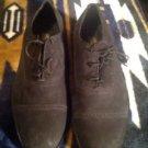 London Square Black Men's Suede Leather Shoes Sz U.S. 9D New No Box Ret. $129