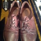 EARTH ORIGINS MILFORD BROWN LEATHER LACE UP OXFORD SHOES-SZ 10M WOMEN'S