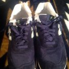 Men's New Balance '574' Sneakers  Navy Blue/ Lime 10B Shoes Good Condition