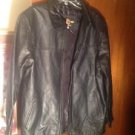 El General Calfskin Negro Black Leather Jacket SZ G Grand Large New Ret. $129