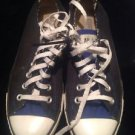 Unisex Converse Black With Blue Details Classic Low Rise Men SZ 6 Women's 8