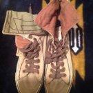 True Religion Mens Green Hi Top Canvas Shoes Sneakers High-tops Sz 10 Fashion
