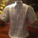 Mens Plaid GEORGE STRAIT WRANGLER COWBOY COLLECTION S/S Button Up Shirt, Size M