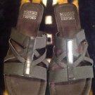 MOOTSIES TOOTSIES Womens Black Strappy Low Heel Slide Sandals Shoes 7.5M #U5