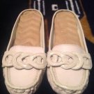 TAN SLIDE SLIP ON CLOGS FLAT LOAFERS MOCCASIN WOMEN SHOES SZ 7M