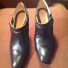Cole Haan AIR CLAIR Black Leather ANKLE Zip BOOTS Womens US 7.5