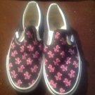 VANS Pink and Black Authentic Off The Wall Slip On Unisex Men 8.5 Women 10 T375