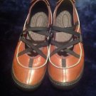 Women's Privo by Clarks Leather Mary Janes Ballet Shoes sz 8½ M