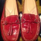 Naturalizer N5 Velocity Comfort Women's Red Patent Leather Slides Shoes Size 7.5