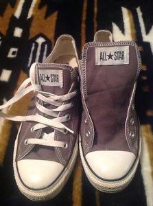 Converse All Star Gray  Canvas Low 1J794 Men's SZ 8 Women SZ 10 Athletic Shoes