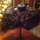 2016 Women Faux Fur Black Plush Bridal Wedding Jacket Wrap Shrug Bolero Shawl
