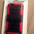 NEW ACCELLORIZE- iPhone 6 Protective Phone Case Snap On Slim Design Red/Black