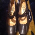 "LIFESTRIDE ""Sindy"" Brown  Faux Leather Heels Sz 7 M GC ~STYLISH~Worn Once Nice"