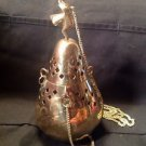 High Polished Brass 7 Inch Hanging Incense Burner  Censer W/Lucky Elephant New