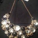 Style & Co. Gold-Tone Black & Clear Bubble Stone Bib Necklace Ret. $34