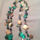 Style&co. Necklace, Gold -Tone Teal Shell Rope Long Necklace Ret. $28