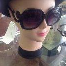 Designer Inspired Minimal Square Baroque Sunglasses w/ Swirl Arms, Hand Polished