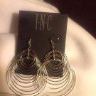 Inc Silver Circles Pierced Earrings Ret $19.50