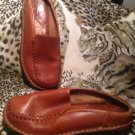 BORN BROWN Leather Mules Flats Shoes Women's Size 7 M/38