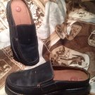 ROCKPORT WOMEN'S BLACK LEATHER SLIP ON SLIDES LOAFERS MULES SHOES SIZE 6.5M
