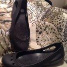 "Women's Crocs ""KADEE"" Sling Back Ballet Flats Size 9M Black"
