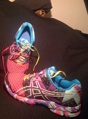 ASICS GEL-NOOSA TRI 8 WOMEN'S MULTI COLOR CONFETTI SNEAKERS SIZE 9M RUNNING CUTE