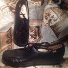 NEW SAS SIESTA BLACK Leather Handsewn Tripad Comfort Oxford Women's SIZE 9S