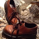 Dr. Martens Womens Brown Lace-up Leather Shoes 8651 Size 5
