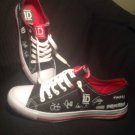 1D ONE DIRECTION AUTOGRAPH WOMEN'S SIZE 10M BLACK WHITE CANVAS SHOES SNEAKERS