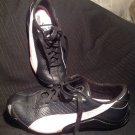 PUMA JANINE WOMEN'S DANCE BLACK LEATHER W/ PINK SUEDE STRIP SNEAKERS SIZE 9.5M