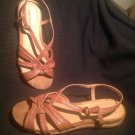 "WOMEN'S BARE TRAPS ""RHETTA"" BROWN LEATHER SLINGBACK SANDALS SIZE 7.5M MRSP $62"