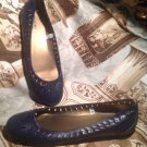 MOSSIMO SUPPLY CO SIZE 9.5M NAVY BLUE WOMEN'S SHOES BALLET FLATS WITH CUTOUTS