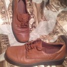 WOMEN'S NATURALIZER JAZZED LEATHER BROWN LACE UP OXFORDS SIZE 8M Shoes