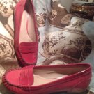 Women's Arturo Chiang MADDIEA Coral Patent Leather Loafers Flats Shoes Sz 10M
