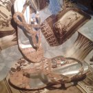 WOMEN'S SHOES LIFE STRIDE YASTA TAN CORK SLIP ON SANDALS SLIDES THONGS SIZE 7.5M