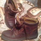 TIMBERLAND MEN'S BOYS BROWN LEATHER WORK HIKING BOOTS LACED SIZE 5.5M
