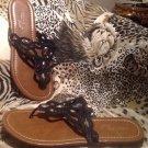 Madeline Stuart McGraw Women's Black Gladiator Strappy Sandals Sz 8.5M Shoes