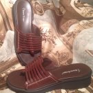 BARE TRAPS DAVINA BROWN LEATHER THONG SANDALS WOMEN'S SIZE 8M SHOES