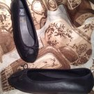 MOOTSIES TOOTSIES MOOSHIE WOMEN'S BLACK LEATHER BALLET FLATS SHOES SIZE 7.5M