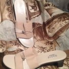 Women's-MUNRO AMERICAN- BEIGE ELASTIC STRAP SANDALS SHOES-SIZE 10SS-Made in USA
