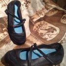 SKECHERS WOMEN'S BLACK CLIMACOOL LEATHER & MESH COMFORT Shoes size 7.5 M