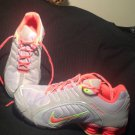 VGC! WOMEN'S NIKE ZOOM SHOX SILVER CORAL/GR ATHLETIC SNEAKERS 8M RUNNING SHOES