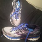 BROOKS MEN'S SIZE 13M ADRENALINE GTS 16 SILVER BLUE RUNNING SHOES SNEAKERS