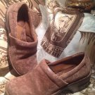 Women's B.O.C by Born BROWN LACE  Leather Clogs Mules Heels Shoes SIZE 7.5M
