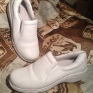 COBBIE CUDDLERS 27488 WOMEN'S WHITE LEATHER PROFESSIONAL COMFORT SHOES SIZE 8W