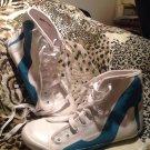 Fashion Designer Sneakers By BE&D Maison Dumain Retail $130 WHITE & BLUE SZ 6M
