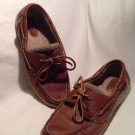 SPERRY TOP SIDER CH133 BROWN LEATHER BOAT SHOES WOMEN'S SZ 7M